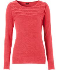 BODYFLIRT Pullover langarm in rot (Rundhals) für Damen von bonprix