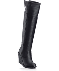 bpc bonprix collection Overkneestiefel in schwarz für Damen von bonprix