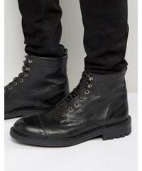 Walk London - Liverpool - Bottines en cuir à lacets - Noir