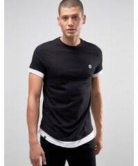 Le Breve - T-shirt long - Noir