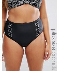 Costa Del Sol - Bas de bikini taille haute - Noir