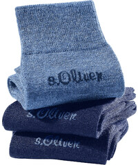 s.Oliver Damensocken (3er-Pack) in blau für Damen von bonprix