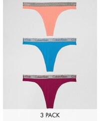 Calvin Klein - Radiant - Baumwolltangas im 3er-Set - Mehrfarbig