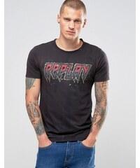 Replay - T-shirt avec logo - Noir