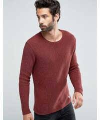Only & Sons - Gerippter Strickpullover - Rot