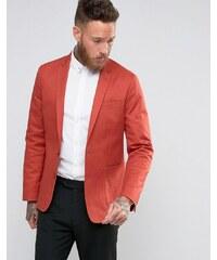 ASOS Skinny Blazer in Rust Washed Cotton - Orange