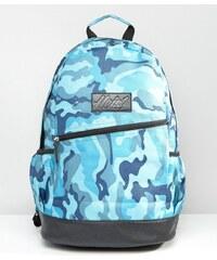 Heist - Rucksack in Camouflage-Blau mit Besatz in Lederoptik - Blau