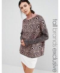 Y.A.S Tall - Cirl - Pullover mit hohem Kragen - Mehrfarbig