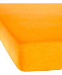 bpc living Spannbettlaken Jersey Microfaser in orange von bonprix