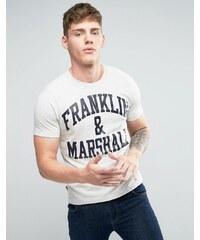Franklin & Marshall Franklin and Marshall - T-shirt avec logo - Gris