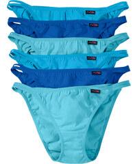 bpc bonprix collection Tanga (6er-Pack) in blau für Damen von bonprix