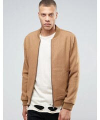 Selected Homme - Bomberjacke aus Wolle - Beige