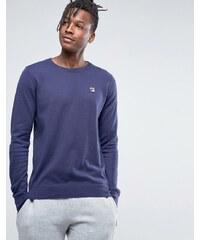 Fila - Vintage-Pullover mit Rundhalsausschnitt - Marineblau