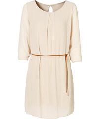 BODYFLIRT Kleid in beige (Rundhals) von bonprix