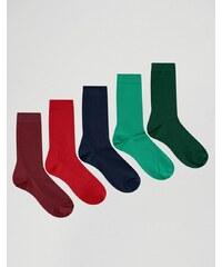 ASOS - Lot de 5 paires de chaussettes - Multi