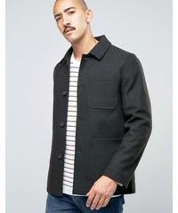 Stanley Adams - Manteau en laine majoritaire avec poches plaquées - Vert