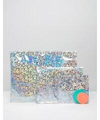 Meri Meri - Enveloppes scintillantes - Argent métallisé - Multi