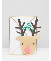 Meri Meri - Carte de Noël avec renne - Multi
