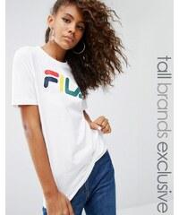 Fila Tall - T-shirt oversize à motif - Blanc