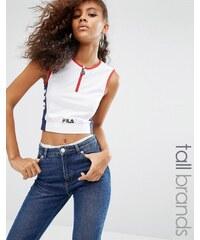 Fila Tall - Top court zippé à motif - Blanc