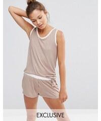 Chelsea Peers - Pyjama-Set mit Trägershirt und Shorts - Beige