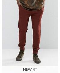 ASOS - Pantalon de jogging skinny - Rouge foncé - Rouge
