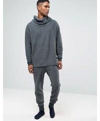 ASOS Loungewear - Pantalon de jogging skinny texturé - Noir délavé - Noir