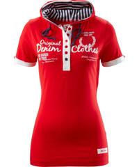 John Baner JEANSWEAR Shirt mit Kapuze, Kurzarm in rot für Damen von bonprix