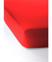 bpc living Spannbettlaken Jersey in rot von bonprix