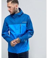 Columbia - Pouring Adventure - Veste imperméable à capuche 2 couleurs - Bleu
