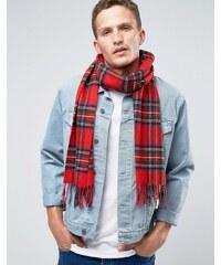 Glen Lossie - Écharpe écossaise en laine d'agneau - Rouge - Rouge
