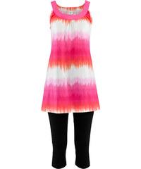bpc bonprix collection Kleid+Capri-Leggings (2-teiliges Set) ohne Ärmel in pink für Damen von bonprix