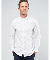 Selected Homme - Chemise grand-père élégante avec imprimé - Blanc