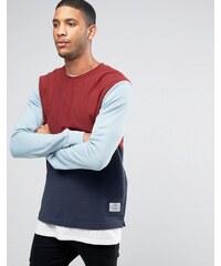 Poler - Sweat-shirt color block - Rouge