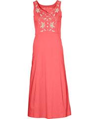 bpc selection Kleid mit Stickerei ohne Ärmel in rot von bonprix