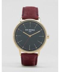 Ben Sherman - Montre-bracelet en cuir - Bordeaux - Marron