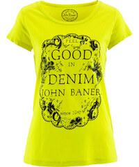 John Baner JEANSWEAR Shirt, Kurzarm bedruckt in grün für Damen von bonprix