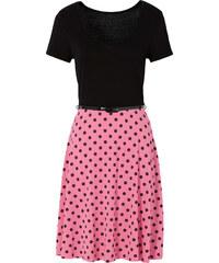 BODYFLIRT Shirtkleid/Sommerkleid kurzer Arm in schwarz (Rundhals) von bonprix