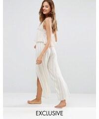 Akasa - Pantalon de plage à rayures et fentes sur les côtés - Multi