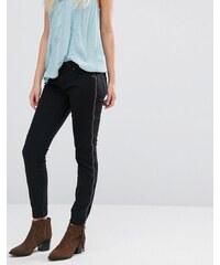 Free People - Levon - Jeans mit Reißverschlussverzierung - Schwarz