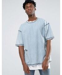 Other UK - T-shirt oversize en jean - Bleu