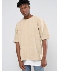 Other UK - T-shirt oversize en peau de mouton retournée - Blanc