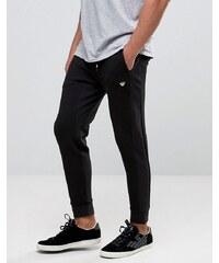 Armani Jeans - Pantalon de survêtement en jersey gaufré, coupe slim - Noir