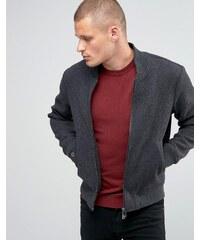 Armani Jeans - Bomberjacke aus Wolle - Grau