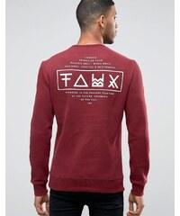 Friend or Faux - Limitless - Sweat avec imprimé au dos - Rouge