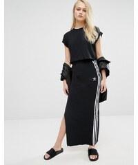 Adidas - Jupe longue à 3 bandes - Noir