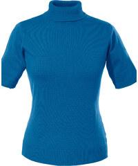 bpc selection Pullover kurzer Arm in blau (Rundhals) für Damen von bonprix