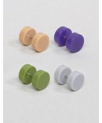 ASOS - Ohr-Plugs in Rosa und Khaki im Set - Mehrfarbig