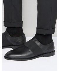 Zign - Lederschuhe mit elastischem Riemen - Schwarz