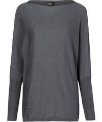 BODYFLIRT boutique Pullover langarm in grau für Damen von bonprix